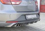 Rieger rear skirt insert Carbon look_