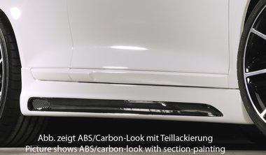 Rieger side skirts left/right Scirocco carbon look