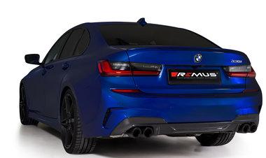 Remus sportuitlaat BMW 3 (G20) 2018- Sedan Einddemper links/rechts uitgang