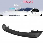 Schätz® Carbon rear bumper spoiler with Difusser for Tesla S from 06/2012