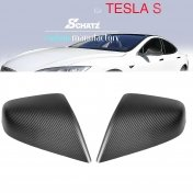 Schätz® carbon matt mirror cover fits Tesla S from 06/2012 (replacement)
