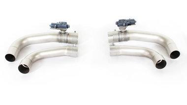 Remus racing Y-buis Alfa Romeo Giulia Quadrifoglio met geïntegreerde electronisch kleppensysteem en Remus sound controller