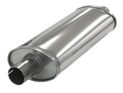 Demper Medium 51 ovaal 100/165 mm, lengte 420 mm Ø 50,8mm (2,00 inch) RVS