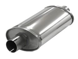 Demper Small 51 Ovaal 100/165 mm, lengte 320 mm Ø 50,8mm (2,00 inch) RVS