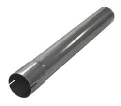 Uitlaatbuis lengte 0,5m Ø 63,5mm (2,50 inch) RVS