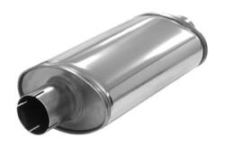 SIMONS Demper Super 63 Ovaal 115/185 mm, lengte 320 mm Ø 63,5mm (2,50 inch) RVS