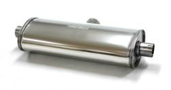Demper Duplex 63-51 Ovaal 140/220 mm, lengte 500 mm Ø 63,5mm (2,50 inch) RVS