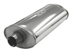 SIMONS Demper Heavy 63 Ovaal 140/220 mm, lengte 500 mm Ø 63,5mm (2,50 inch) RVS
