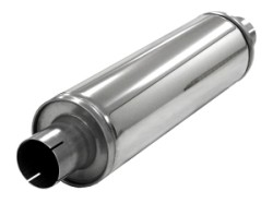 SIMONS Demper Slim 63 rond 125 mm, lengte 420 mm Ø 63,5mm (2,50 inch) RVS