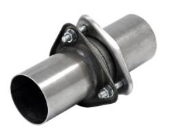 3-gaats flens met aansluitmof incl. pakking Ø 63,5mm (2,50 inch) RVS