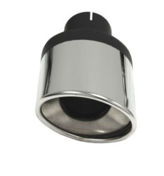 Eindstyling Ellips links Ovaal 90x120 mm, lengte 230 mm Ø 63,5mm (2,50 inch)