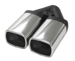 Eindstyling Twin Quattro Hoekig 2x 70x90 mm, lengte 240 mm Ø 63,5mm (2,50 inch)