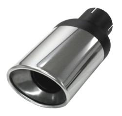 Eindstyling Ellips xl ovaal 90x120 mm, lengte 255 mm Ø 63,5mm (2,50 inch)