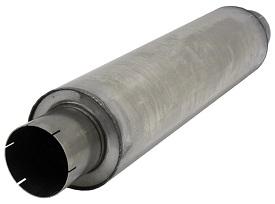 Demper RVS Rond 200 mm, lengte 830 mm Ø 127mm (5,00 inch)
