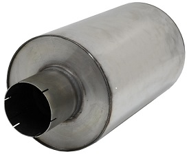 Demper RVS Rond 300 mm, lengte 480 mm Ø 127mm (5,00 inch)