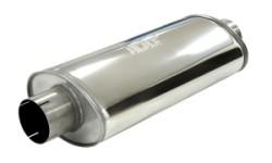 Demper Grand 89 RVS Ovaal 140/220 mm, lengte 500 mm Ø 89mm (3,50 inch)