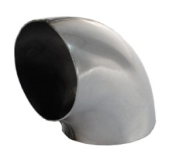 knik 90 graden RVS Ø 89mm (3,50 inch)