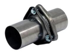 3-gaats flens met buis inclusief pakking RVS Ø 76mm (3,00 inch)