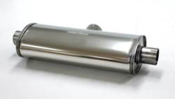 Demper Duplex 76-63 Ovaal 140/220 mm, lengte 500 mm RVS Ø 76mm (3,00 inch)