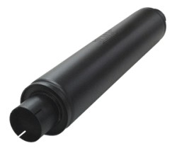 Demper Turbex 76 Rond 125 mm, lengte 625 mm staal Ø 76mm (3,00 inch)