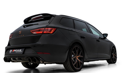 """Remus sportuitlaat Seat Leon [5F] facelift 17- Cupra ST """"R"""" GPF-Back-System links/rechts dubbele uitgang"""