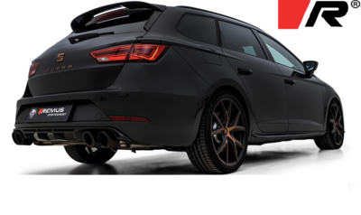 """Remus sport uitlaat Seat Leon [5F] facelift 17- Cupra ST """"R"""" GPF-Back-System links/rechts dubbele uitgang"""