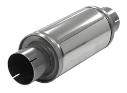 Demper Turbonett 76 Rond 125 mm, lengte 250 mm RVS Ø 76mm (3,00 inch)